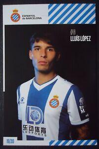 1542 Autogrammkarte Lluis Lopez Espanyol de Barcelona 2019/20
