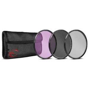 72mm 3 Piece Kit Digital UV FLD CPL Filter For Canon Nikon Pentax Sony DSLR