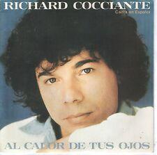 """RICHARD COCCIANTE 7""""PS Spain 1980 Al calor de tus ojos PROMO ( In Spanish )"""
