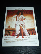 CARMEN, film card [Julia Migenes Johnson, Placido Domingo]