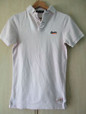 mens SUPERDRY LIGHT PINK COTTON POLO SHIRT SIZE SMALL