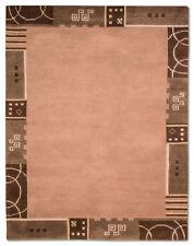 Tapis marron avec des motifs Bordé indiens pour la maison
