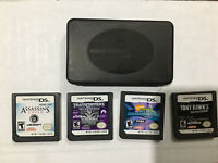 DS Game Lot With Case (Transformers, Tony Hawk, Assassins' Creed, Spongebob)