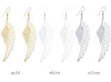 Drop Dangle Earrings Women Gold Plated Silver White Angel Wings Fashion Jewelry