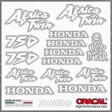 16x Kit HONDA Africa Twin XRV 750 White ADESIVI PEGATINA STICKERS AUTOCOLLANT