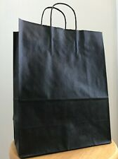 "NEW Kraft Paper Bag 10 x 5 x 13""- 20 Pieces, Black"