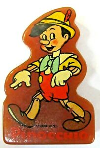1938 PINOCCHIO figural dark amber Bakelite decal PENCIL SHARPENER Disney ^
