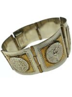VINTAGE MEXICO TAXCO STERLING SILVER Aztec MAYAN Panel BRACELET