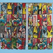 "Marvel Comics Defenders 66 x 72"" Drop Curtains Avengers Xmen Matches Bedding"