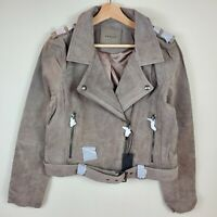 BlankNYC Women's Suede Leather Moto Jacket Size L Large New With Tags