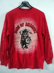 Men Sons of Anarchy SOA Long sleeve T Shirt Road Prospect Gear Reaper Crew Md