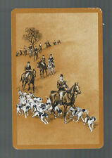 Playing Swap Cards  1  VINT HORSES  HUNTING  DOGS & RIDERS  W519  IN THE FIELDS