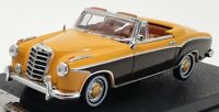 Vitesse 1/43 Scale 28626 - Mercedes Benz 220 SE Cabriolet - Yellow/Brown
