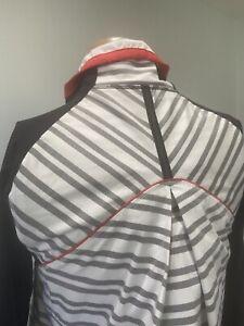 Lululemon Women's Stripe Full Zip Jacket Thumbholes Size: 6???