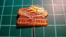Opel Rekord stick pin badge 60's Anstecknadel lapel plastic