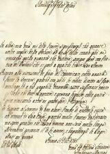 Lettera Prefilatelica di Ambrogio Mostini in Roma per Problemi Economici 1783