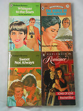 4 HARLEQUIN ROMANCE BOOKS VINTAGE CLASSIC READING