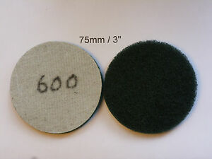 """Non-woven Abrasive Discs Hook and Loop Backed 3"""" / 75mm   600 Grit"""