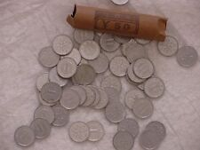 JAPAN 1 YEN COIN LOT - 50 JAPANESE ¥1 (ONE YEN) COINS - UNSEARCHED - ROLLED