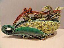 "Majolica Pottery Vase Planter - WS&S Wilhelm Schiller & Son Austria  ANTIQUE 13"""