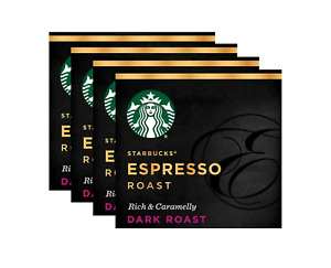 Starbucks Verismo Espresso Pods Dark Roast 4 Boxes 48 K-fee Pods Feb 2021 EXP