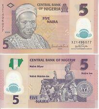 NIGERIA 5 NAIRA 2009 POLYMER FDS UNC
