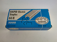 "RAPID ISABERG SWEDEN GALVANIZED STAPLES 66/8 8mm 5/16"" BOX OF 5000 - FREE SHIP!"