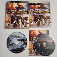 PS3 Playstation 3 - Transformers CIB Fall of Cybertron & Disc Only War Cybertron