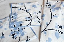 Lulu DK Matouk Queen Duvet Cover w/ 2 Euro Shams blue & white gently used