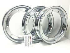 """3 Hoops from 10"""" Made in Italy Chrome 3.50.10/3.00.10 wheel vespa 50 Special"""