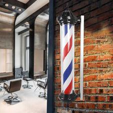 Led Salon Sign Rotating Light 41'' Barber Beauty Shop Stripes Wall Lamp Us