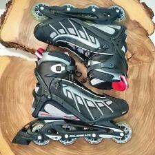 Rollerblade AERO 5 Trainer Inline Skates Men's Size 10 Black/Grey ABEC 5