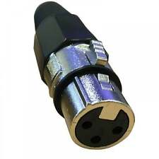 Ukdj 3 broches XLR female socket avec soudure terminaux & Cable Protector 3pin