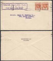 Ceylan 1934 - Cover to Boston-USA. Theme: Tea........ (8G-34850) MV-4964