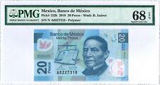 Mexico 20 Pesos 3. May 2010 PMG 68 EPQ  serie N s/n A0227318 POLYMER