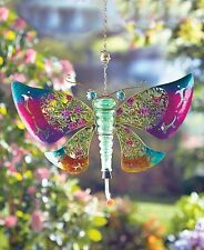 The Lakeside Collection Metal and Glass Hummingbird Feeder - Butterfly