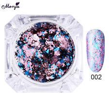 12 Color Nail Art Foil Flake Sequin Glitter Mirror Firework Chrome Powder Dust