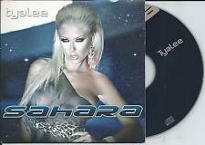 SAHARA - Tyalee CD SINGLE 4TR CARDSLEEVE 2009 Euro House BELGIUM