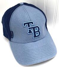 Ted Baker Flexfit Baseball Hat Blue TB Embroidered Logo Wool EXCELLENT