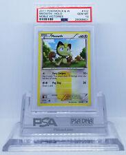 Pokemon BW NOBLE VICTORIES MEOWTH #102 SECRET RARE HOLO CARD PSA 10 GEM MINT #*