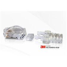 100 X 3M Volition CAT.6 RJ45 LAN Ethernet Gold Plated Modular Plug Network