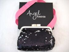 "Victoria's Secret Nylon ""Angel Forever"" Sequins Night/Coin Bag Purse Black Small"