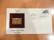 1899 WINTON 22K GOLDEN REPLICA FIRST DAY COVER *** ANTIQUE AUTOS *** NEW