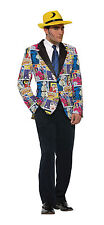 "Pop Art Blazer Comic Book Fancy Dress Jacket - Up to 44"" Chest"