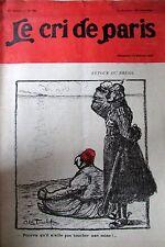 LE CRI DE PARIS N° 934 de 1915 CARICATURE SATIRE HUMOUR NOBLESSE GUERRE WW1