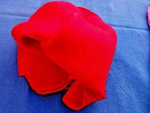 "100%PURE INDIAN SILK HANDMADE PLAIN RED RECTANGULAR LONG SCARF10""x 70"" £9.50 NWT"