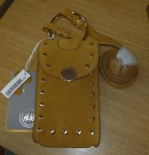 H&M Gamuza Teléfono Móvil Bolso Camel Talla 08 RRP £ 35 DH099 Hh