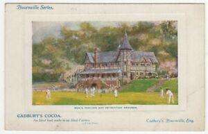 Cadbury's Bourneville Cocoa Colour Printed Advertising Postcard Cricket Pavilion