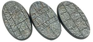 Stone City - Oval Resin Bases 60 mm - 3 Painted/Unpainted Bases for Warhammer
