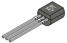 10x Transistor NPN BC547 - TO-92